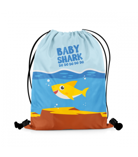 Baby Shark printed drawstring bag
