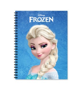 Frozen printed notebook