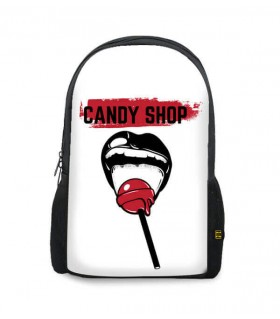 candy shop printed backpacks