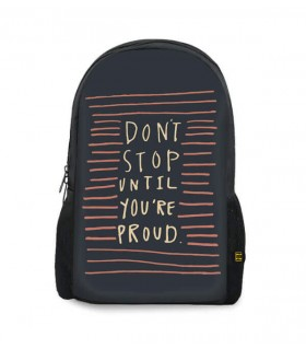 don't stop printed backpacks