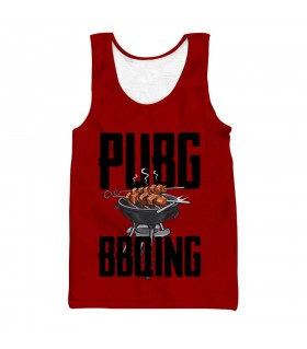 pubg bbq all over printed tank top
