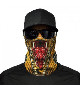 king cobra printed bandana mask