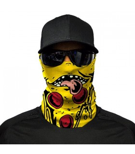 pizza printed bandana mask