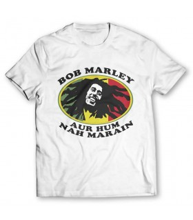 bob marley printed graphic t-shirt