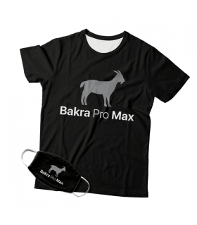 Bakra Max Pro Mask And T-shirt Combo