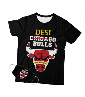 Desi Bulls Mask And T-shirt Combo