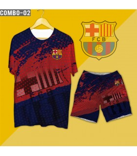 football clubs t-shirt & short combo