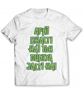 apni chalti hai printed graphic t-shirt