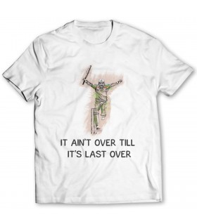 last over printed graphic t-shirt