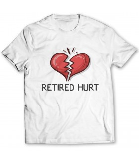 retired heart printed graphic t-shirt