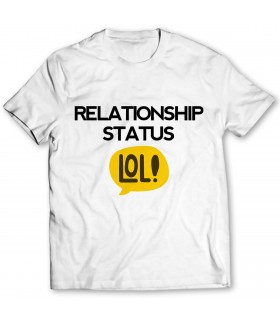 relationship printed graphic t-shirt