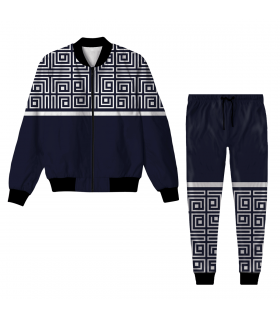 Abstract Jacket Track Suit