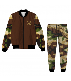 Camouflage Pattern Jacket Track Suit