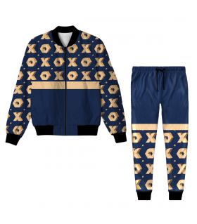 Abstract Pattern Jacket Track Suit