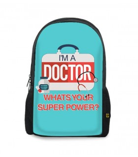 i'm a doctor printed backpacks