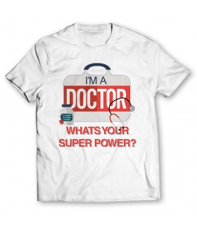 i'm a doctor printed graphic t-shirt