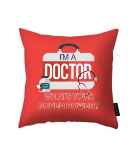 i'm a doctor printed pillow
