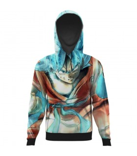 goku ssj all over printed hoodie