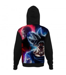 goku vs jiren all over printed hoodie
