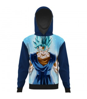 vegetto all over printed hoodie