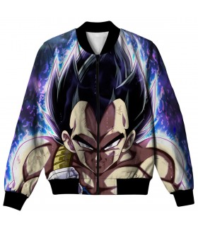 vegeta all over printed jacket