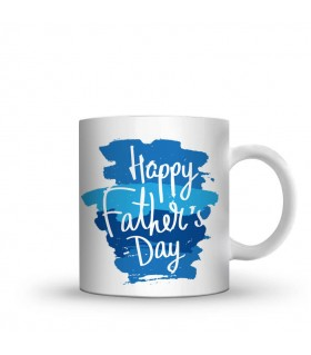 happy fathers day printed mug
