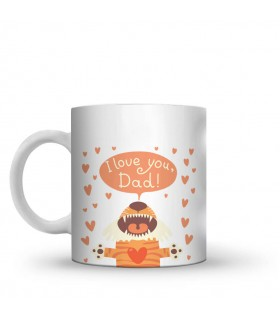 i love you dad printed mug