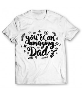 amazing dad printed graphic t-shirt