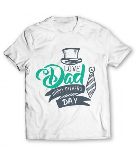 love dad printed graphic t-shirt