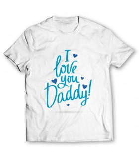 love you daddy printed graphic t-shirt