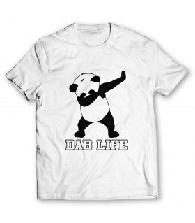 dab life printed graphic t-shirt
