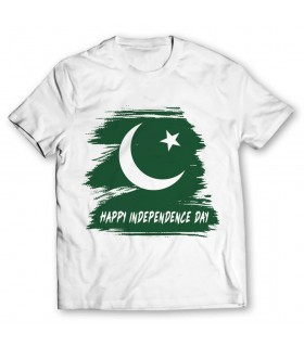 happy independence day printed graphic t-shirt