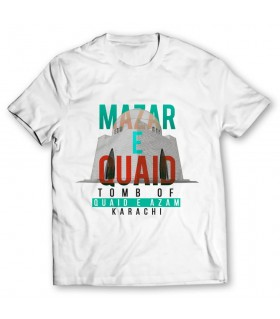 mazar-e-quaid printed graphic t-shirt