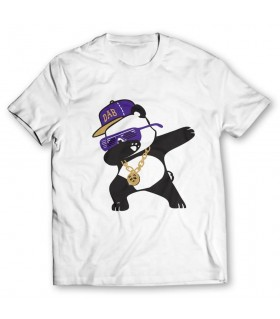 panda dab printed graphic t-shirt