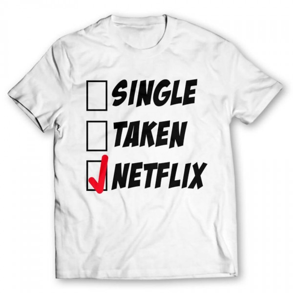 4ea57a25c Single Taken Netflix Printed Graphic T-shirt. Product Code : GRTES1479. Rs. 699