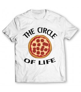 the circle printed graphic t-shirt
