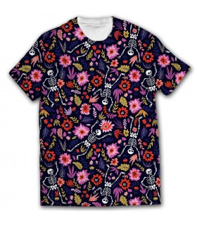 halloween pattern all over printed t-shirt