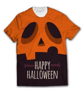 happy halloween all over printed t-shirt