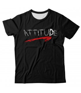 Attitude all over printed t-shirt