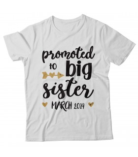 Promoted To Big Sister Printed Graphic T-shirt
