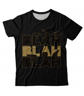 Blah blah blah all over printed t-shirt