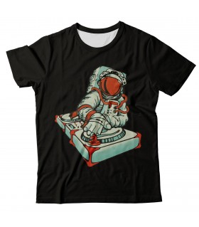Dj astronaut all over printed t-shirt