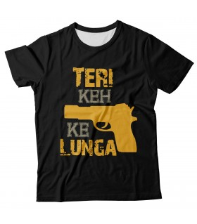 Teri keh kar lunga all over printed t-shirt