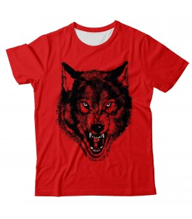 Wolf pack all over printed t-shirt