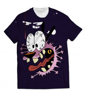 careg the cowardly dog all over printed t-shirt