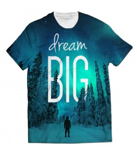 dream big all over printed t-shirt