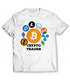 crypto trader printed graphic t-shirt