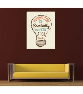 Invovation is creativity canvas frames