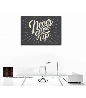 never give up canvas frames