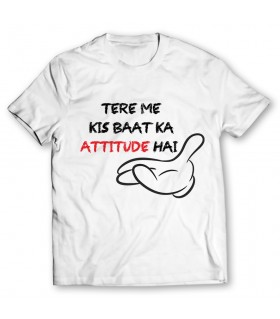 attitude printed graphic t-shirt